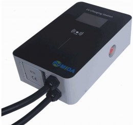 7kW 32A Single Phase EV Charger Station With Type 2 5m EV Cable with Type B RCD, LCD screen