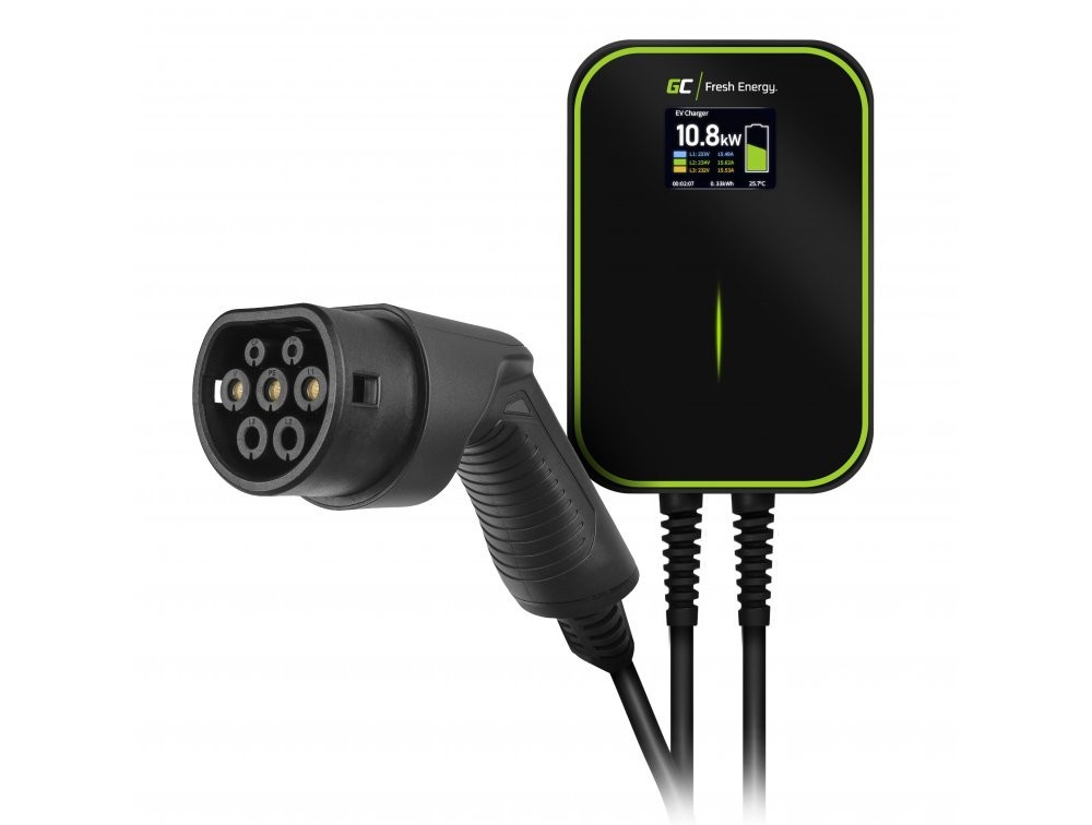 Wallbox GC EV PowerBox 22kW charger with Type 2 cable for charging electric cars and Plug-In hybrids