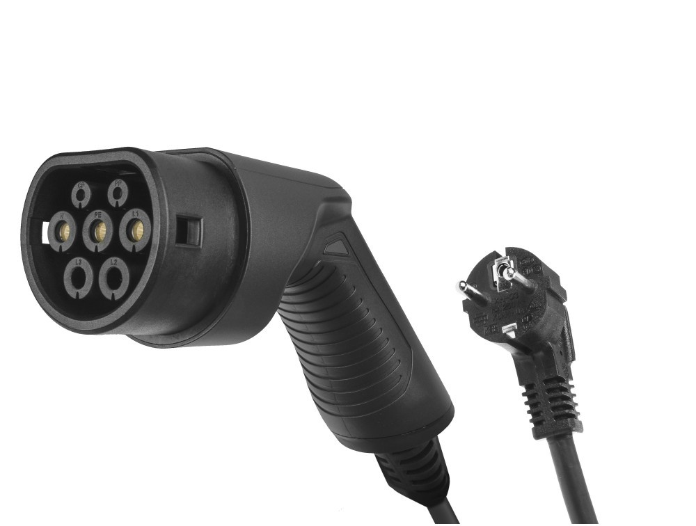 GC EV PowerCable 3.6kW Schuko - Type 2 mobile charger for charging electric cars and Plug-In hybrids