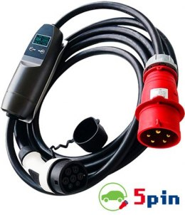 5PIN G3 16A 3-phase EV charger (for portable charging in your garrage)